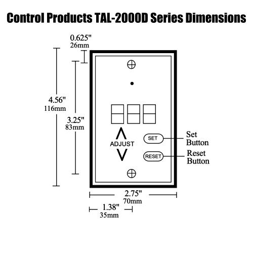 Control Products TAL-2000D Series Temperature Alarm 24VAC