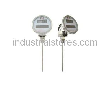 Dwyer DBTA3182 Bimetal Thermometer Solar-Powered Digital