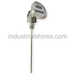 Dwyer DBTA3251 Bimetal Thermometer Solar-Powered Digital
