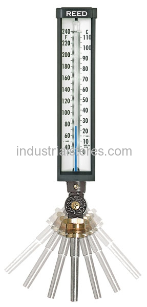 "Reed 9VU35-125 Thermometer Ind 9"" L. 3.5"" Stem 0-120F"