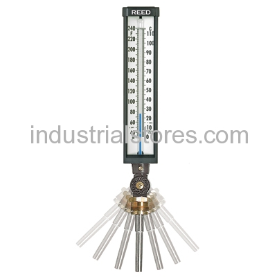 "Reed 9VU35-305 Thermometer Ind 9"" L. 3.5"" Stem 30-300F"