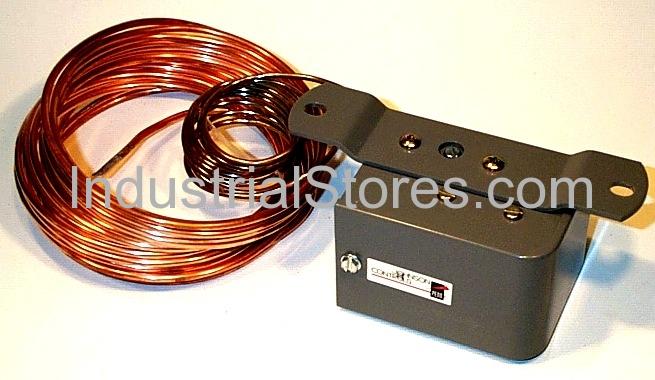 """Johnson Controls A11D-5 Low Temperature Cutout Control SPDT Manual Reset 35-45F 1/8"""" x 20-foot Sensing Element 4-foot Capillary"""