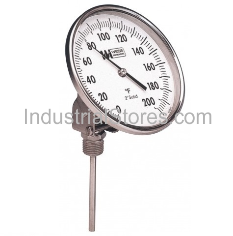 "Weiss 5VBM6-550 Bi-Metal Thermometer 6"" Stem 50 to 550F (0 to 260C)"
