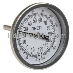 "Reed T30025-250 Thermometer Bi-Metal3"" Dial2.5"" Stem0/250F"