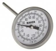 Baker T3006-250 Bimetal Thermometer 0 to 250F (-20 to 120C)