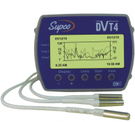 Supco Parts DVT-4 Temperature Data Logger with Display up to 4 Temperatures