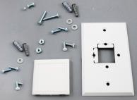 "Enviro-Tec B63-001-3000 Thermostat Cover & Mounting Kit 2"" x 2"" (White)"