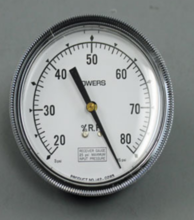 "Siemens Building Technology 142-0283 Gauge 3.5"" Dial 20-80% Relative Humidity 1/4"" Barbed"