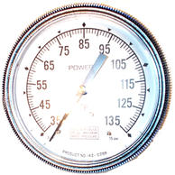 "Siemens Building Technology 142-0288 Gauge 3.5"" Dial 35-135F 1/4"" Barbed"